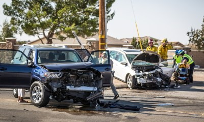 The head-one crash occurred on Ranchero Road and Kuki Street in Hesperia. (Gabriel D. Espinoza, Victor Valley News)