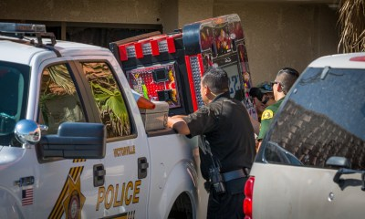 Deputies shut down illegal gaming operation in Victorville. (Gabriel D. Espinoza, Victor Valley News)