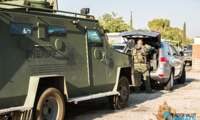 A barricaded situation at a Hesperia mobile home park ended in an officer involved shooting. (Hugo C. Valdez, Victor Valley News)