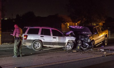 Officials say DUI may have been a factor in a Saturday night crash in Hesperia. Gabriel D. Espinoza, Victor Valley News)