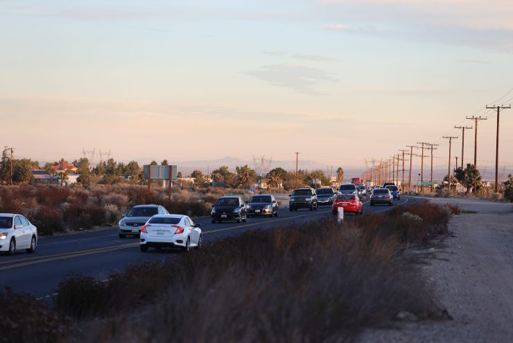 The incident caused southbound traffic on Highway 395 to backup. (Hugo C. Valdez, Victor Valley News)