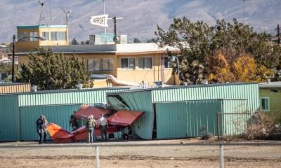 A small plane crashed Saturday at the Hesperia airport. (Gabriel D. Espinoza, Victor Valley News)