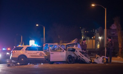 7th Street was closed in both directions as deputies investigated the crash. (Gabriel D. Espinoza, Victor Valley News)