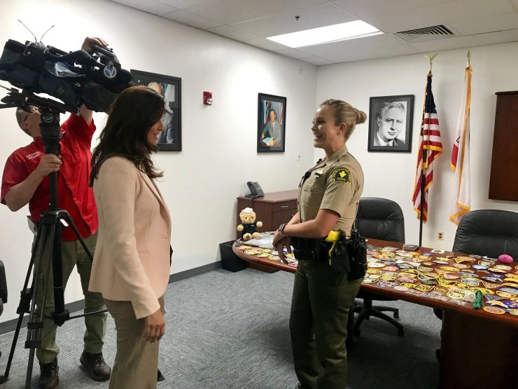 Deputy Forsberg from the Victorville Station went above her call of duty for a young boy with autism. (Victorville PD)