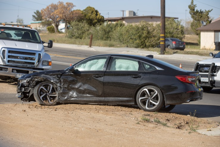 The driver of the Honda was also transported to. a local hospital with non life threatning injuries. (Hugo C. Valdez, Victor Valley News)