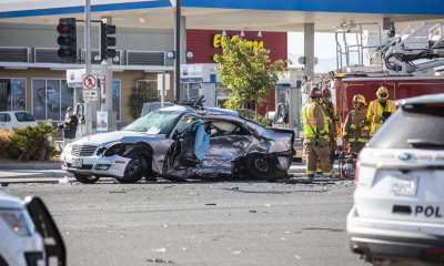 The female driver of the Mercedes was pronounced deceased at the scene by emergency personnel. (Hugo C. Valdez, Victor Valley News)