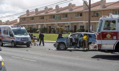 Victorville Fire treat car accident victims