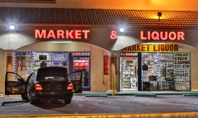 The suspects vehicle remained outside of the business as police investigated. (Gabriel D. Espinoza, Victor Valley News Group)