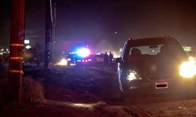 Hesperia deputies shutdown the roadway as they investigated. (Gabriel D. Espinoza, Victor Valley News Group)