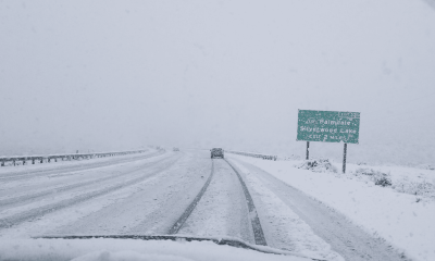 VVNG.com undated file photo of snow falling in the cajon pass.