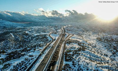 A view of the cajon pass on the day after Thanksgiving. (Hugo C. Valdez, Victor Valley News Group)