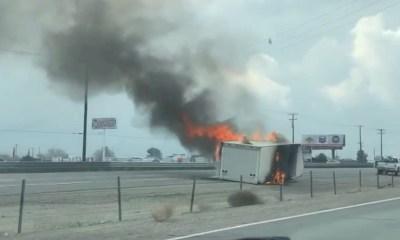 15 freeway vehicle fire