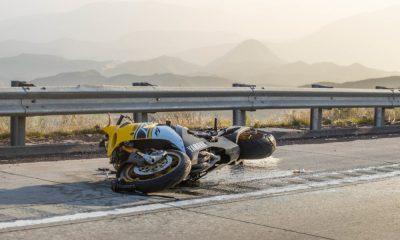 Motorcycle crash on northbound 15 freeway in the cajon pass. (Gabriel D. Espinoza, VVNG.com)