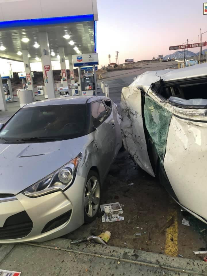 rollover crash 15 freeway