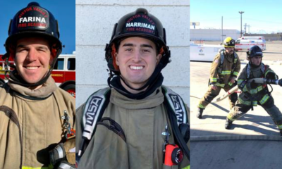 Victorville Firefighter Intern, Nick Farina (left). Victorville Firefighter Intern, Duncan Harriman.