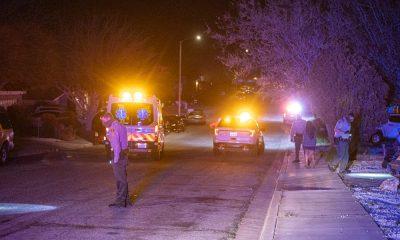 Deputies investigate an alleged shooting Sunday night in Victorville. (Hugo C. Valdez, VVNG.com)