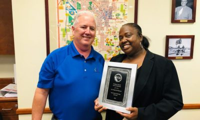 The Town Council recognized Pearson for her leadership award at their meeting on Tuesday.(courtesy photo)