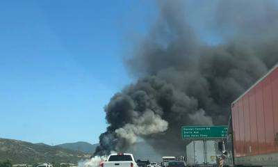 truck fire on 15 freeway