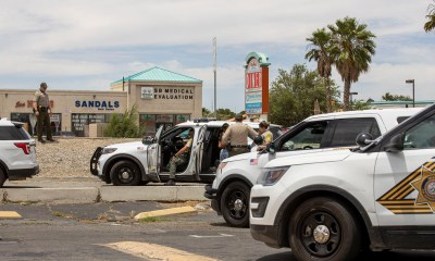 Deputies responded after a woman called 911 and said shot at while driving. (Gabriel D. Espinoza, VVNG.com)