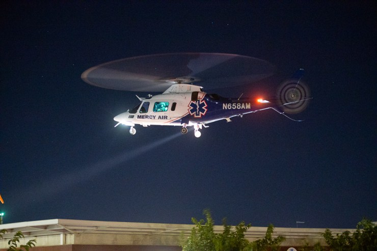 A woman hit by a vehicle was critically injured Friday night. (Hugo C. Valdez, VVNG.com)