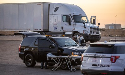 A male truck driver was found deceased inside a semi Saturday evening in Hesperia. (Hugo C. Valdez, VVNG.com)