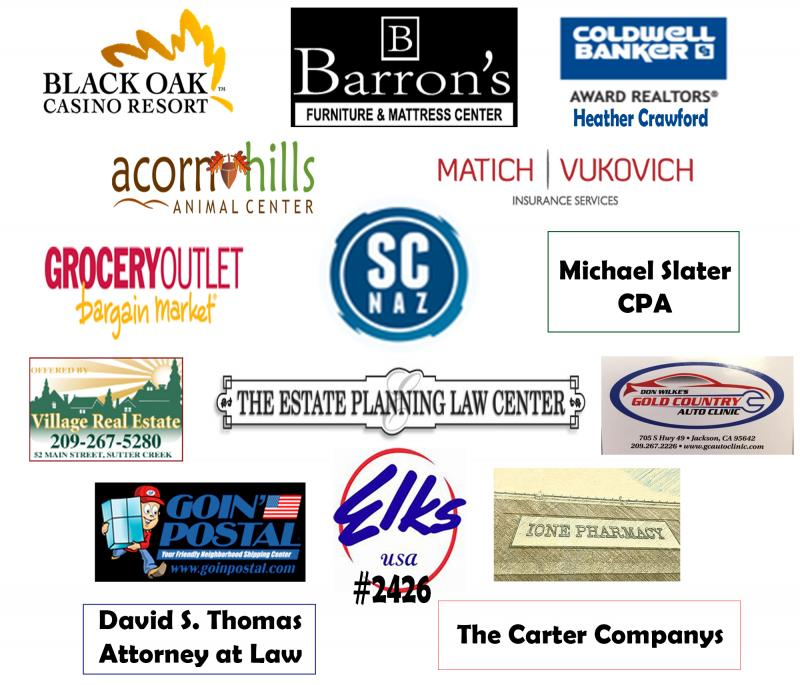 2017 Golf Tournament fundraiser hole sponsors