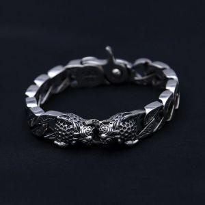 Men's Sterling Silver Leopard Bracelet
