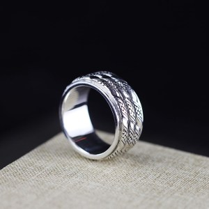 Sterling Silver Polished Spinner Ring