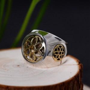 Men's Sterling Silver Cherry Ring