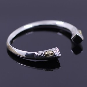 Women's Sterling Silver Virgin Mary Twisted Cuff Bracelet