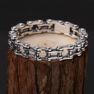 Men's Sterling Silver Bicycle Chain Bracelet