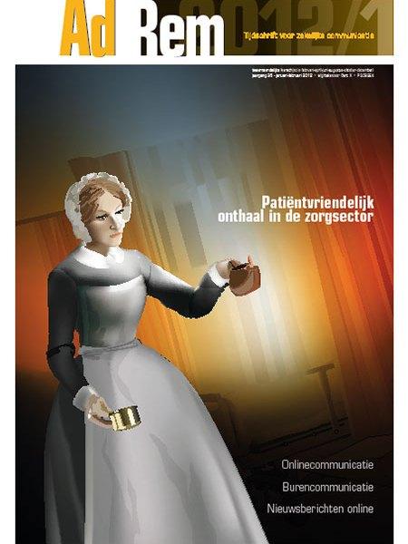 2012/1 – Patiëntvriendelijk onthaal in de zorgsector