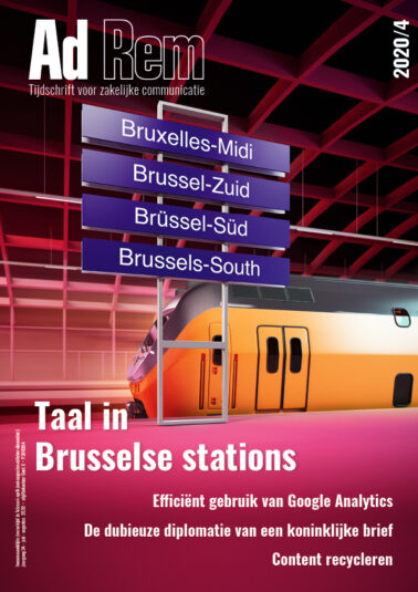 Ad Rem 2020/4 – Taal in Brusselse stations