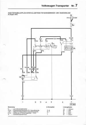 Baduras Volkswagen T2Bulli Seite  Stromlaufpläne