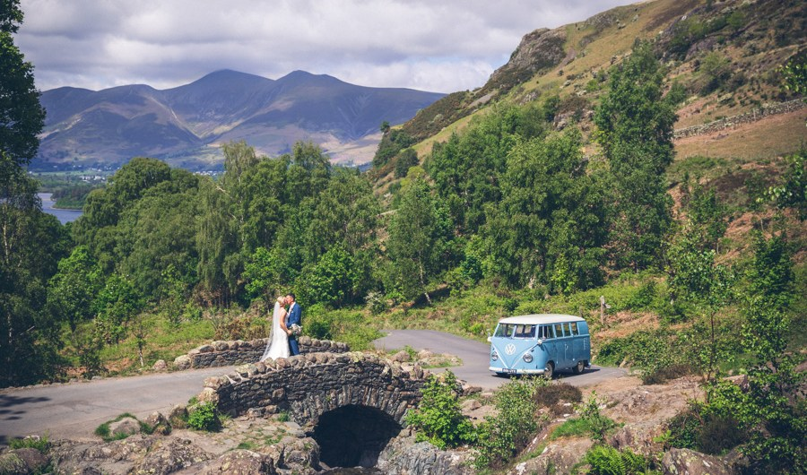 VW Camper Van - Wedding Car Hire - Ashness Bridge
