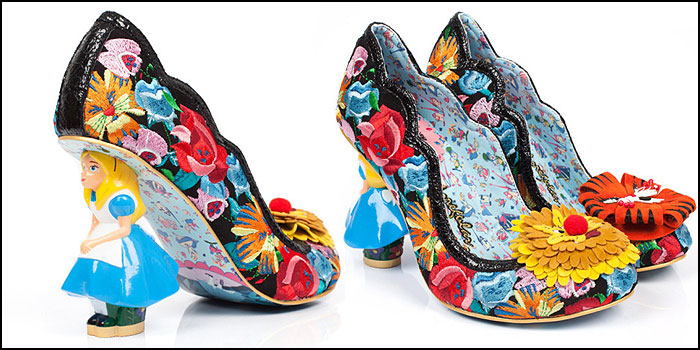 Irregular Choice Alice in Wonderland character heels