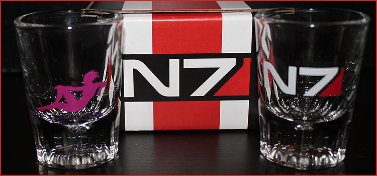 Mass Effect Loot Crate Shot Glasses