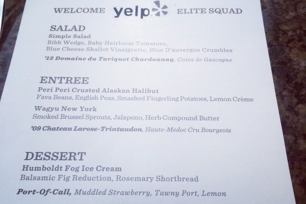 Being Yelp OC Gold Elite at Tommy Bahama Newport Beach