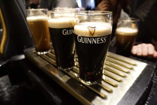 Tasting Guinness in Dublin, Ireland