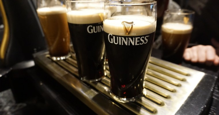 Tasting Guinness in Dublin, Ireland