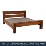 Beyonce King Size Teak Wood Bed Price In India Buy Beyonce King Size Teak Wood Bed Online Vyom Design