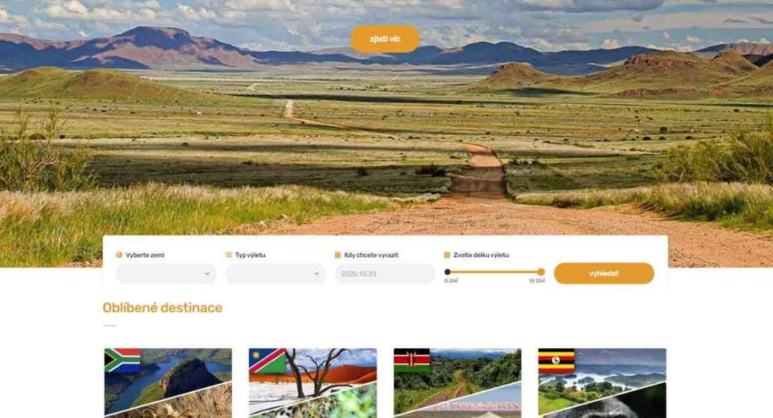 Webové stránky pro cestovní agentury a kanceláře