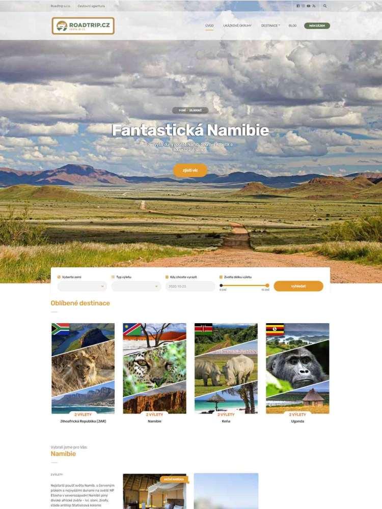 Web cestovní agentury