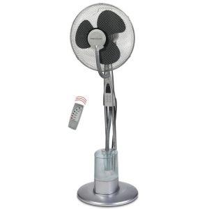Staande ventilator met luchtbevochtiger