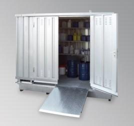 200411 container voor gevaarlijke stoffen,  geïsoleerd