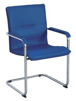 101525 Bezoekersstoel,  vrijzwaaiend ronde buis verchroomd