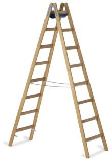 203630 Staande Ladder Met Sporten,  beide zijden