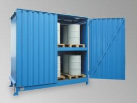 200333 Stellingcontainer V. Gevaarlijke Stoffen,  max. 40x200l vat