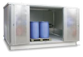 200415 container voor gevaarlijke stoffen,  geïsoleerd