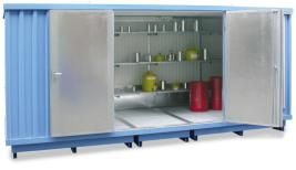 200421 container voor gevaarlijke stoffen,  geïsoleerd